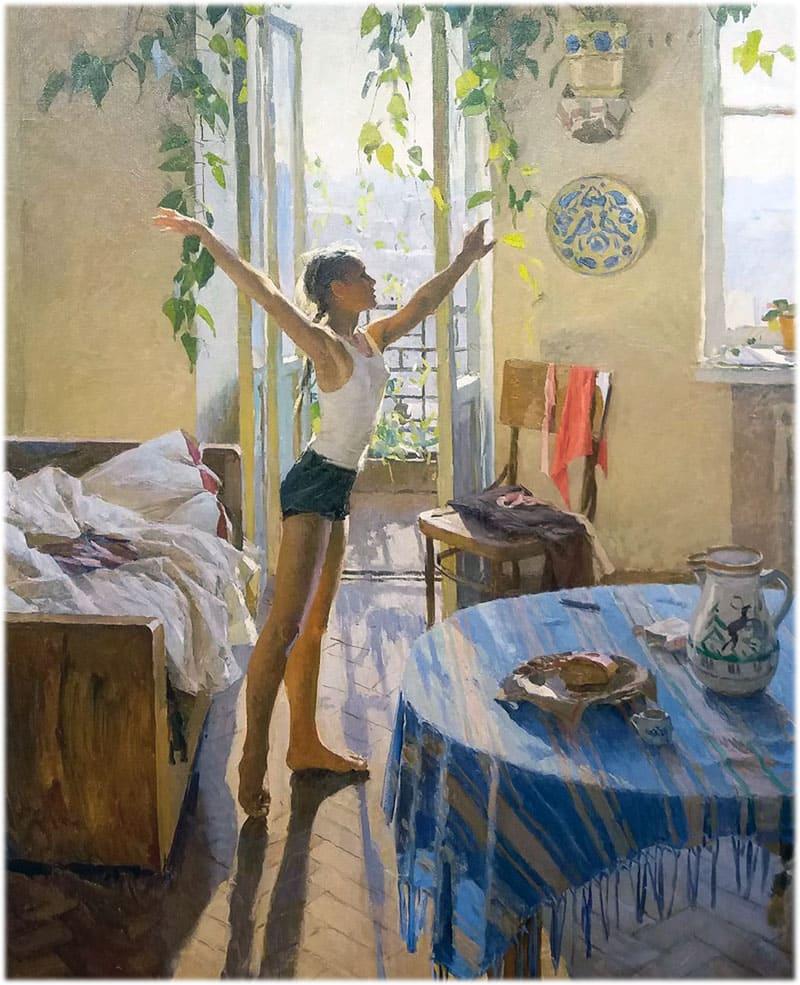 Картина Т. Яблонской Утро
