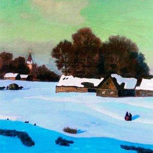 картина крымова зимний вечер