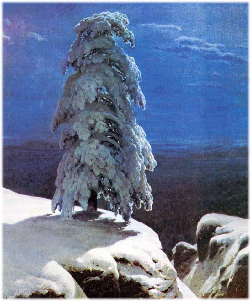 Картина Шишкина: На севере диком