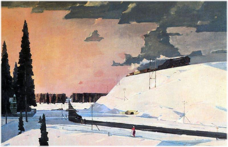 Картина Нисского: Февраль. Подмосковье