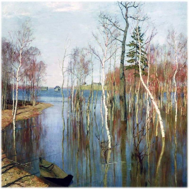Левитан: Весна - большая вода