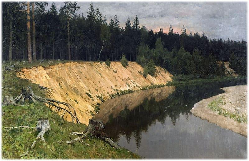 Левитан: Лесистый берег