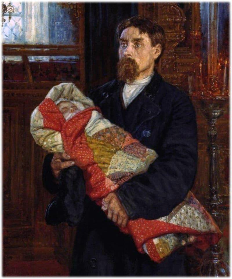 Картина Савицкого Отец