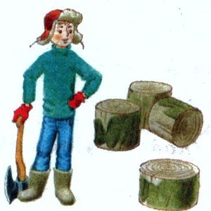 Стёпа дрова колет