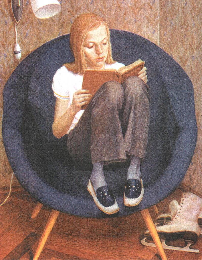 картина хабарова портрет милы