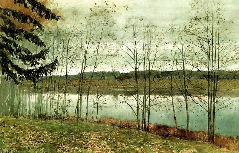 Картина Левитана «Осень»
