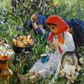 картина А. Пластова Летом
