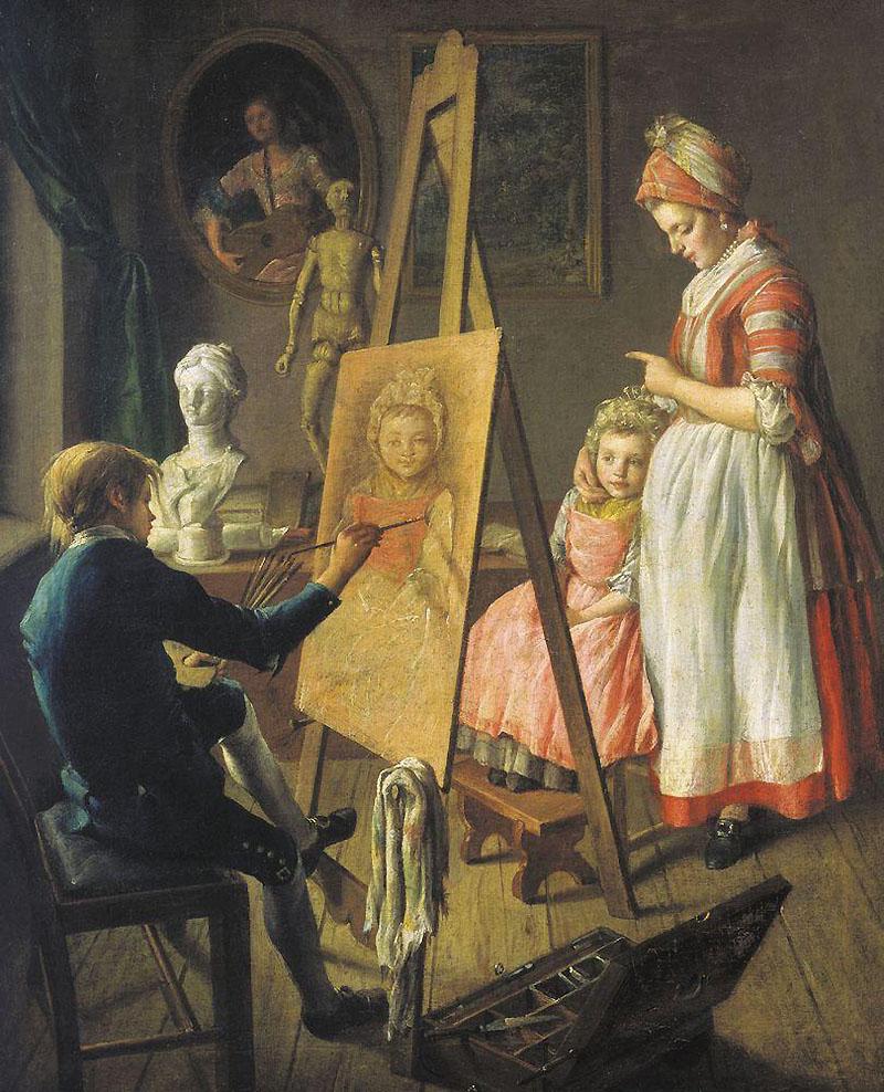 Картина Юный живописец И.И. Фирсова