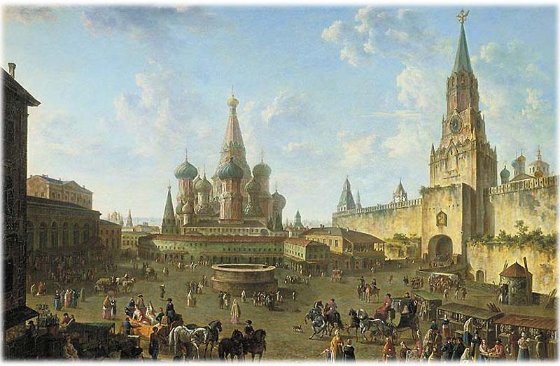 Красная Площадь в Москве 1801 г.