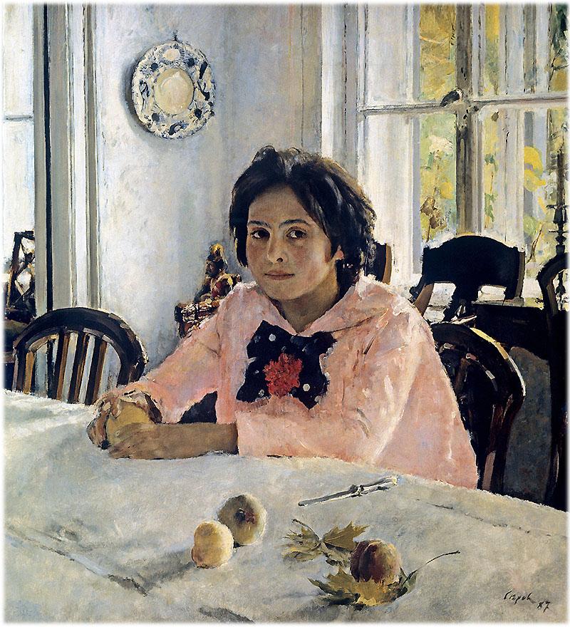 В.А. Серов Девочка с персиками