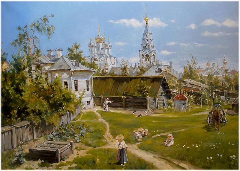 Картина Василия Поленова «Московский дворик»
