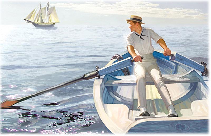 Томас Гарвей был спущен на воду в шлюпке в открытое море
