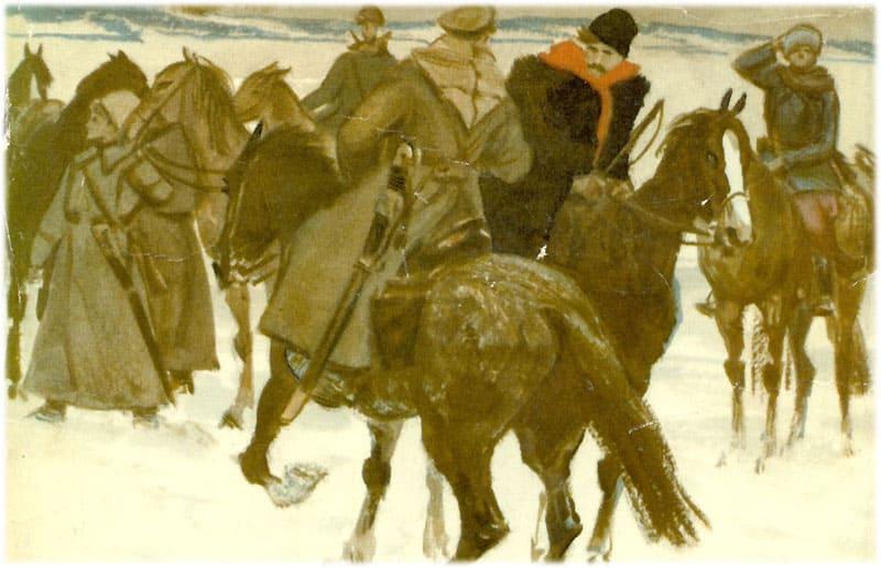 Тихий Дон. Корнилов просит поддержки у казаков