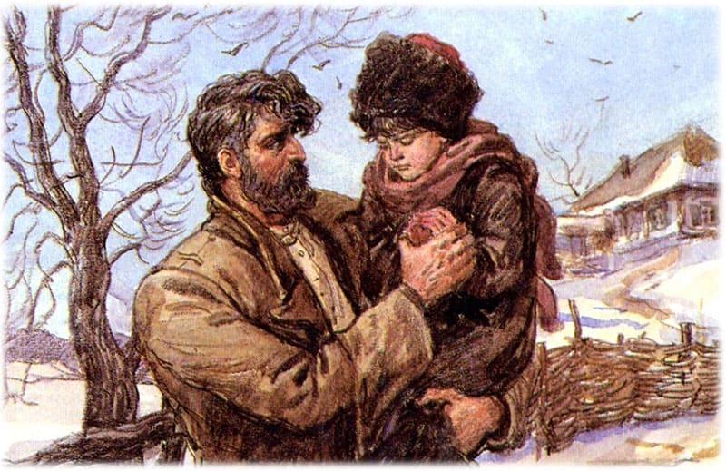 Тихий Дон. Мелехов впервые взял на руки подросших детей