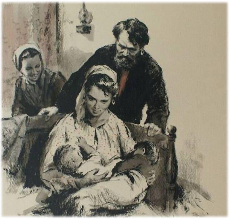 Наташа рожает мальчика и девочку