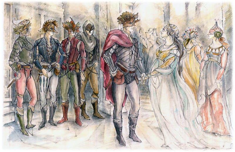 Ромео в маске проникает на бал Капулетти