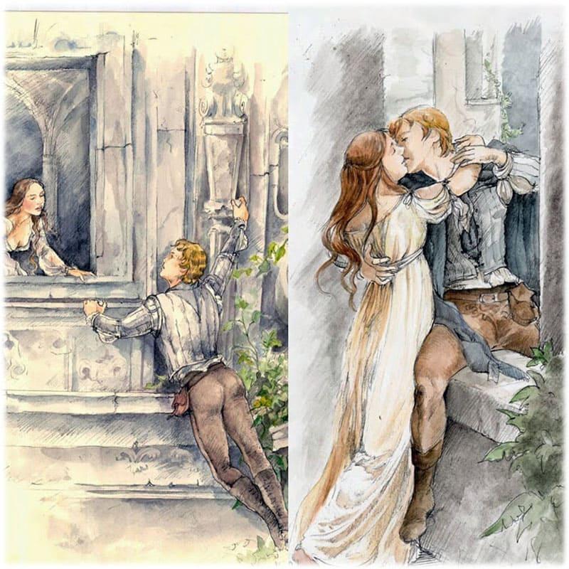 Ромео под балконом Джульетты