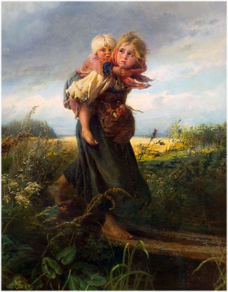 К. Маковский: Дети, бегущие от грозы
