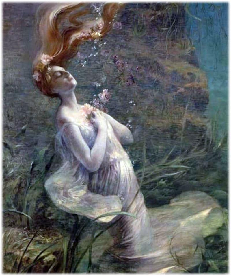 Офелия утонула в реке