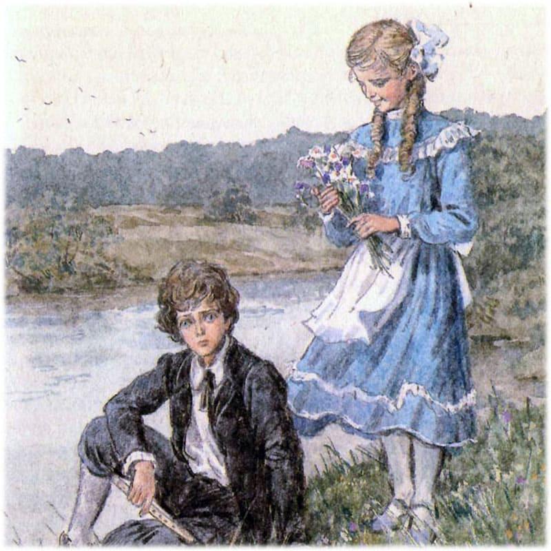 Много времени Петя уделял девочке Эвелине