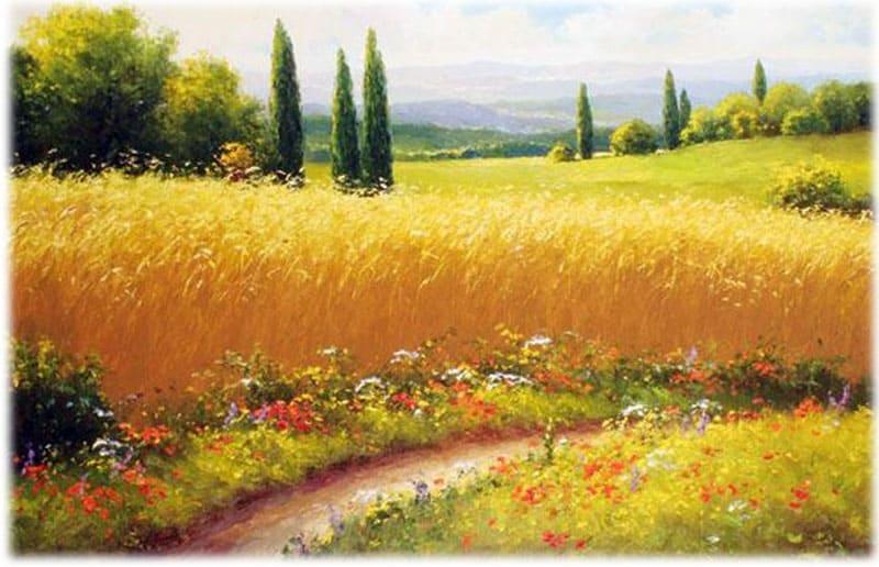 Лермонтов: Когда волнуется желтеющая нива...