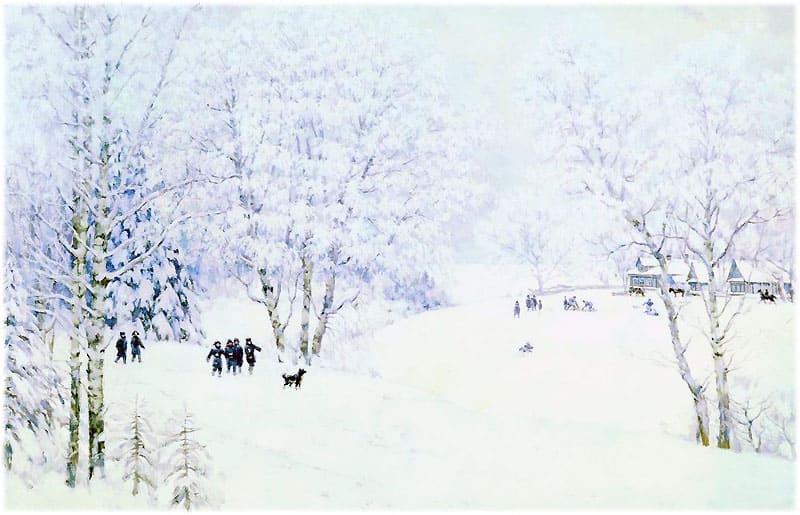 Русская зима. Лигачево
