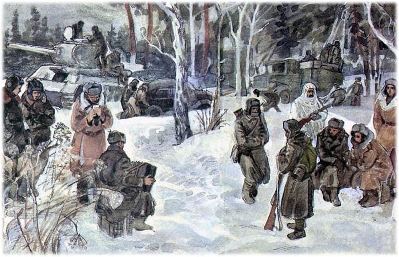 Василий Теркин на привале