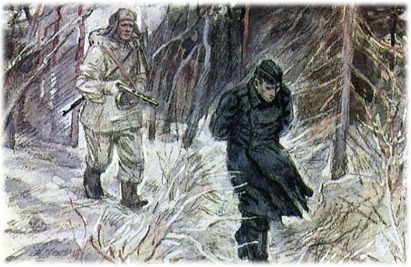 Василий Теркин взял в плен немца