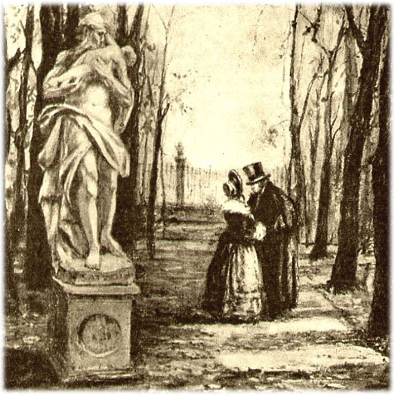Встреча Обломова и Ольги в парке