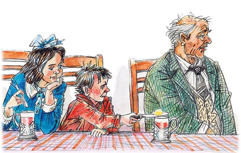 Золотые слова: мальчик решает растопить масло над чашкой чая