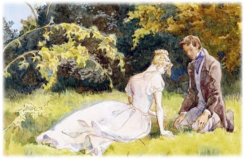 Иллюстрации к тургеневу свидание