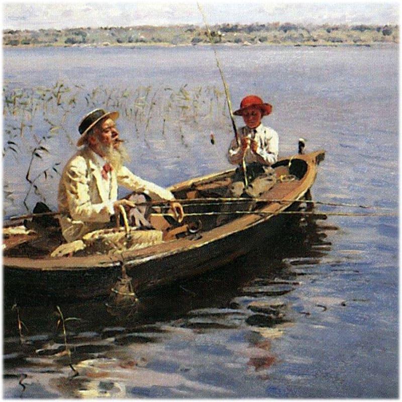 Картина Маковского Рыбак Финляндия