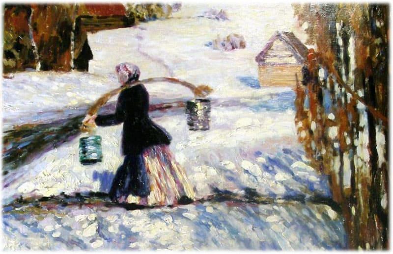 Картина Мартовский снег, Грабарь
