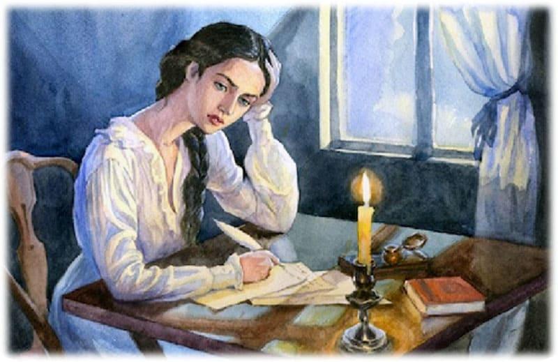 Татьяна пишет письмо Онегину