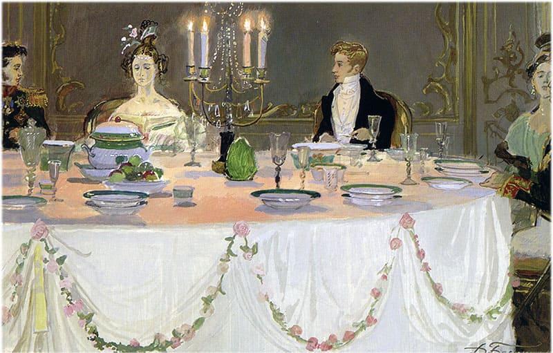 Светская жизнь в романе Евгений Онегин