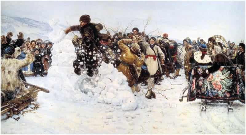 Картина Сурикова Взятие снежного городка