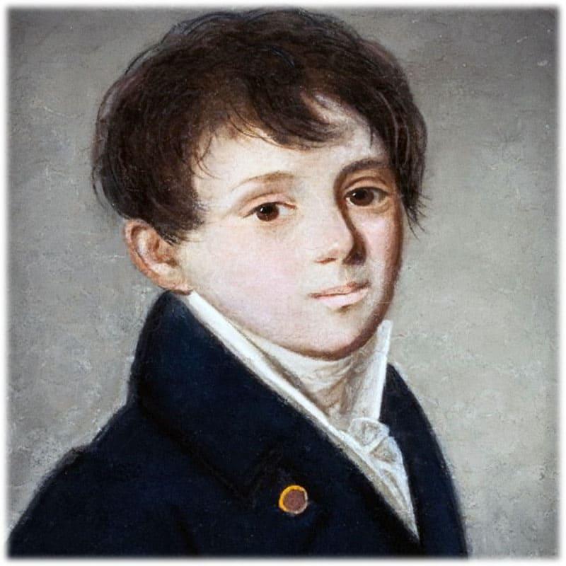 Женя Баратынский портрет в детстве
