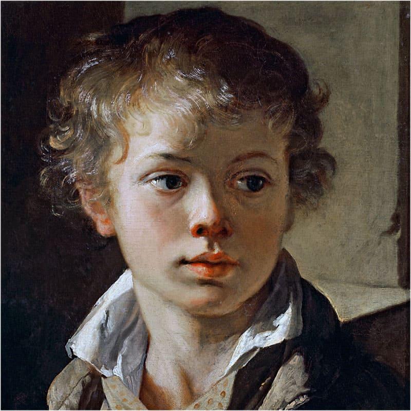 Картина Тропинина Портрет сына