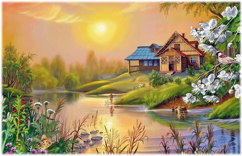 Эдварда Григ: Утро, рисунок