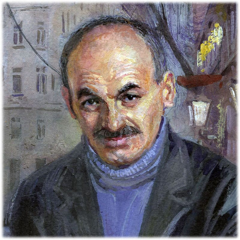 Булат Окуджава портрет