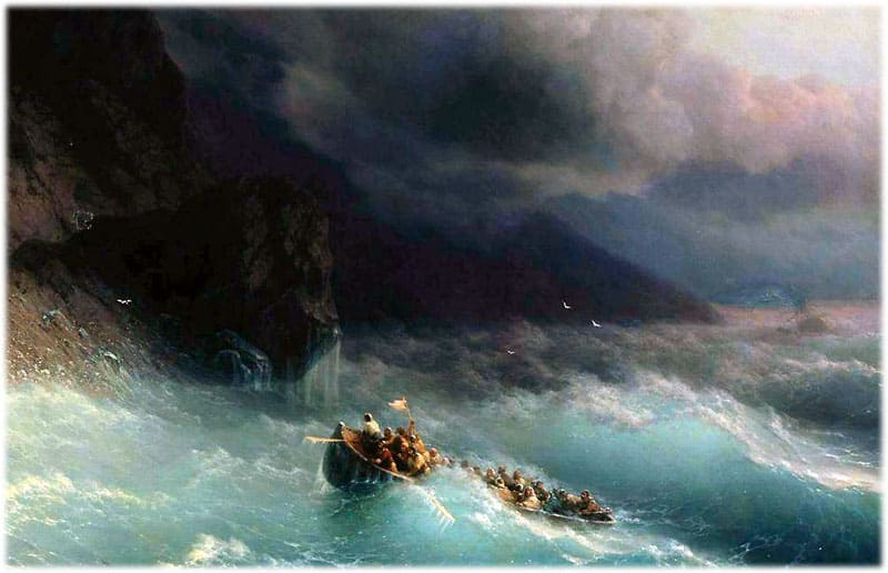 Айвазовский: Буря на Черном море