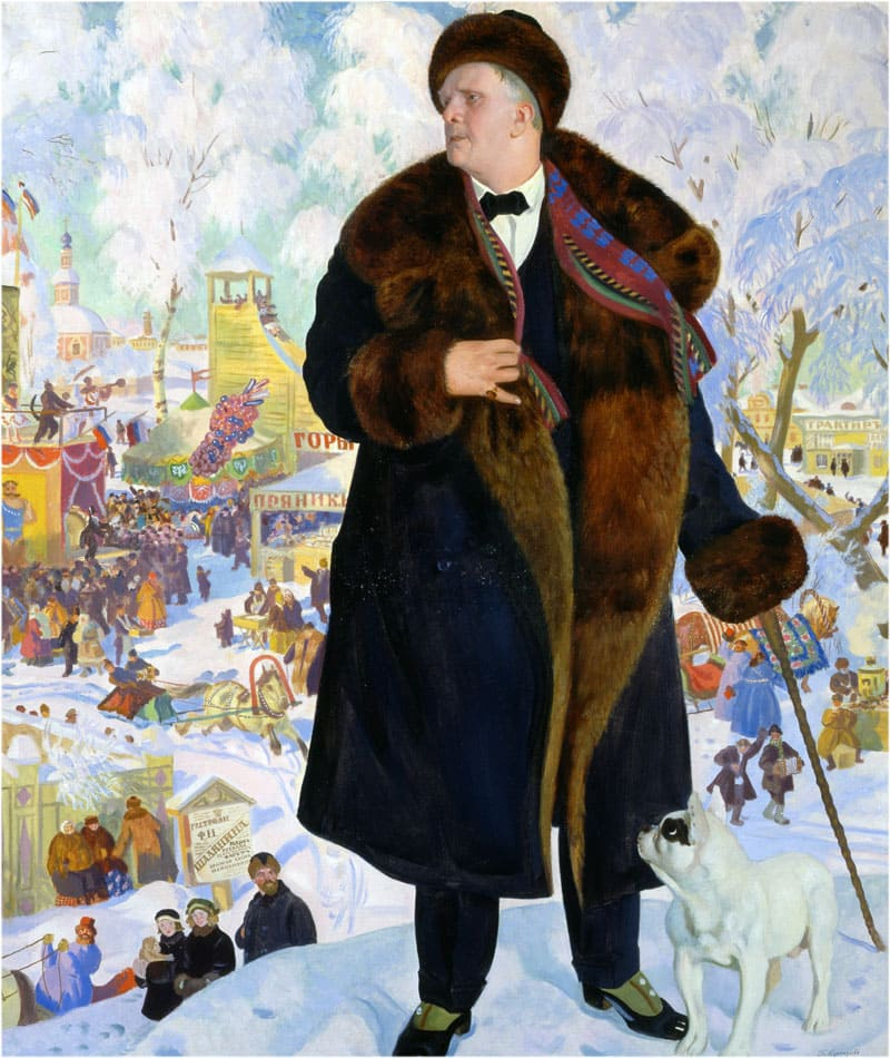Портрет Шаляпина Кустодиев