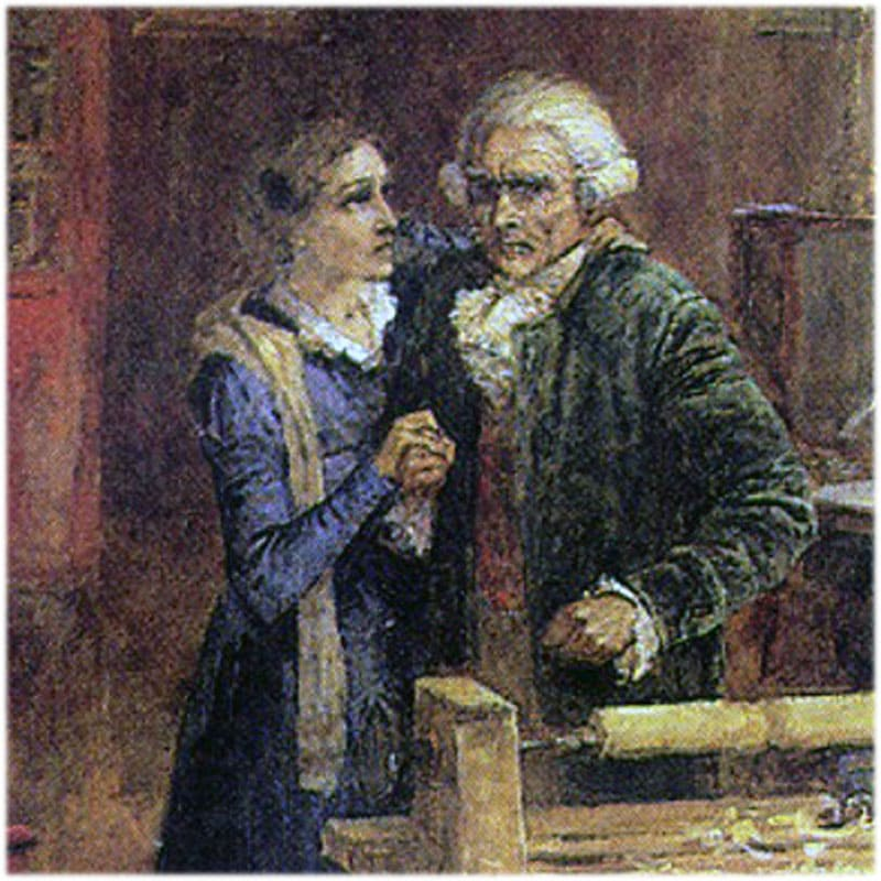 Старый князь Болконский с Марией