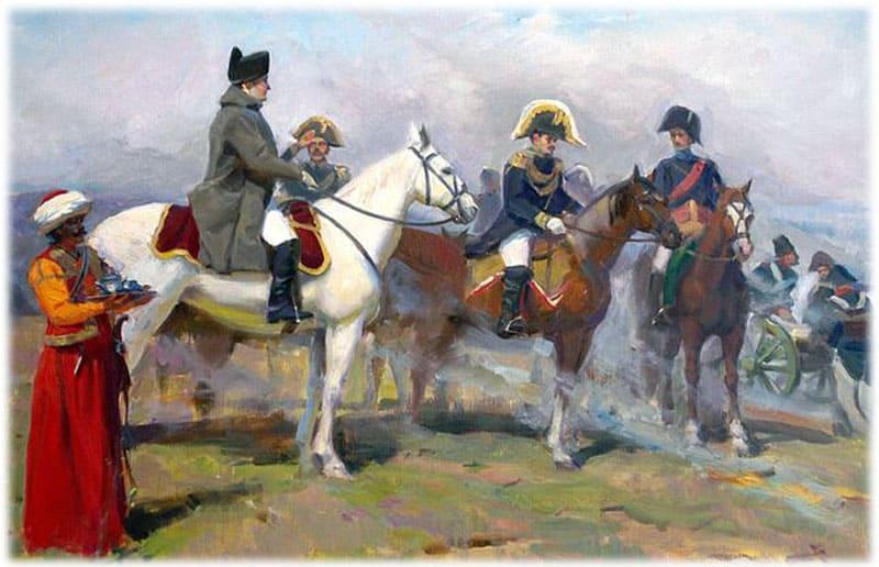 Наполеон знакомится с местностью