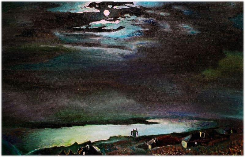 Лунная ночь на Днепре, сочинение по картине Куинджи