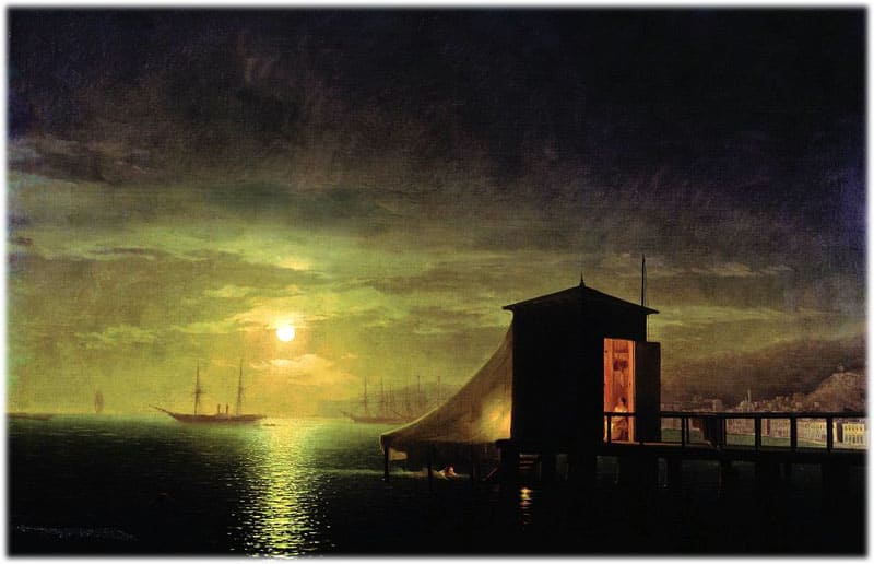 Сочинение по картине Айвазовского Лунная ночь