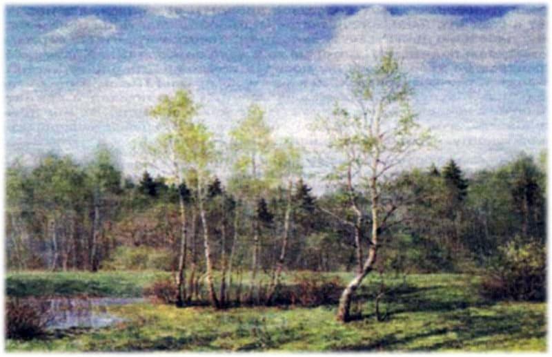 Сочинение по картине Первая зелень Никонова
