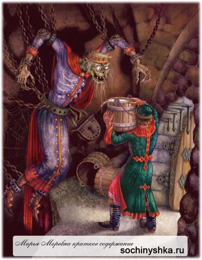 Рисунок к сказке Марья Моревна